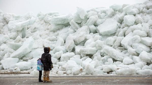 """Sorpresa por un """"tsunami"""" de hielo en Estados Unidos y Canadá"""