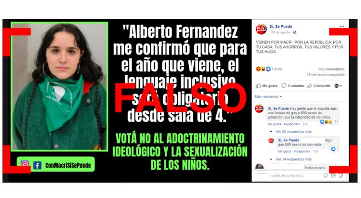 """No, Ofelia no dijo: """"Alberto me confirmó que el lenguaje inclusivo será obligatorio"""""""