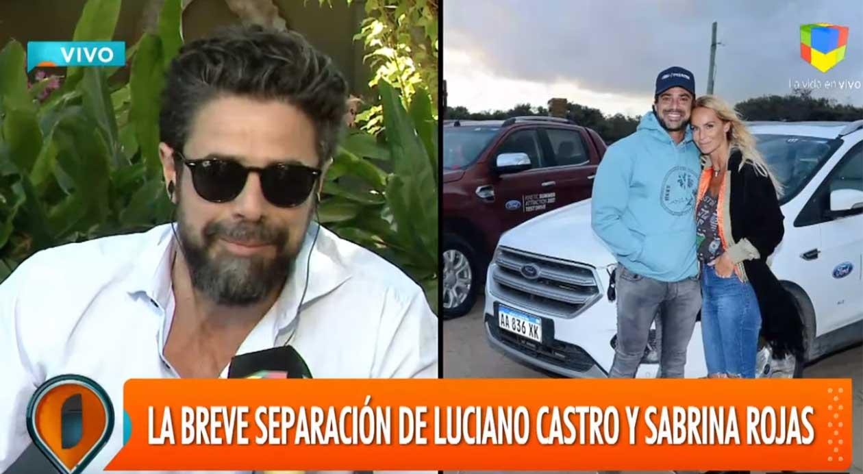 """El acto fallido de Luciano Castro al hablar de Sabrina Rojas: """"¡Jorge, la p… madre!"""""""