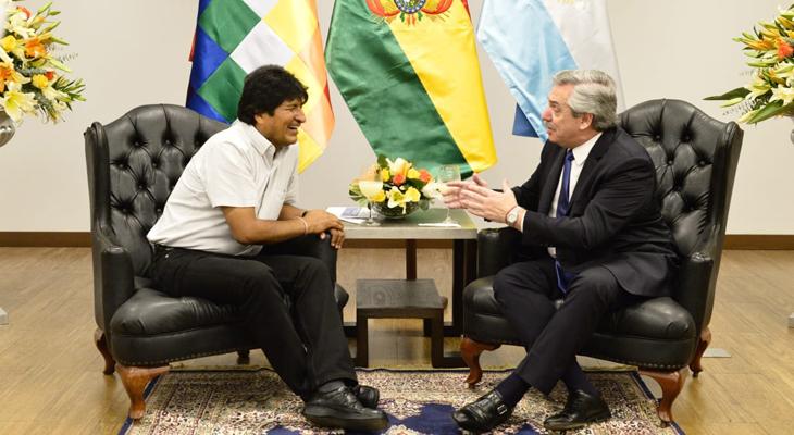 Fernández se reunió en Bolivia con Morales en otra gira internacional