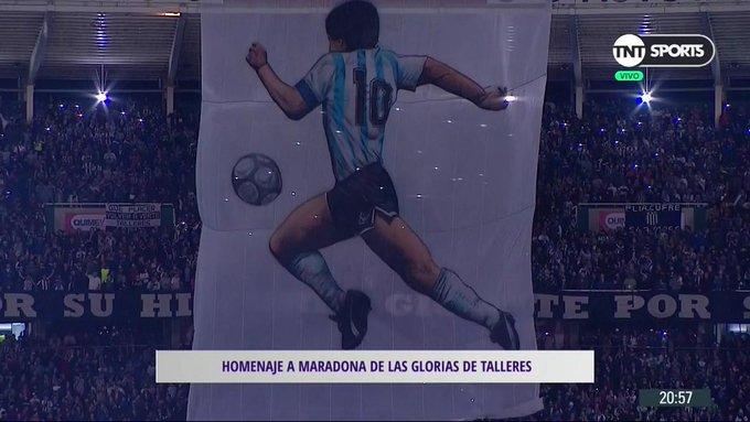 El espectacular homenaje de Talleres a Maradona