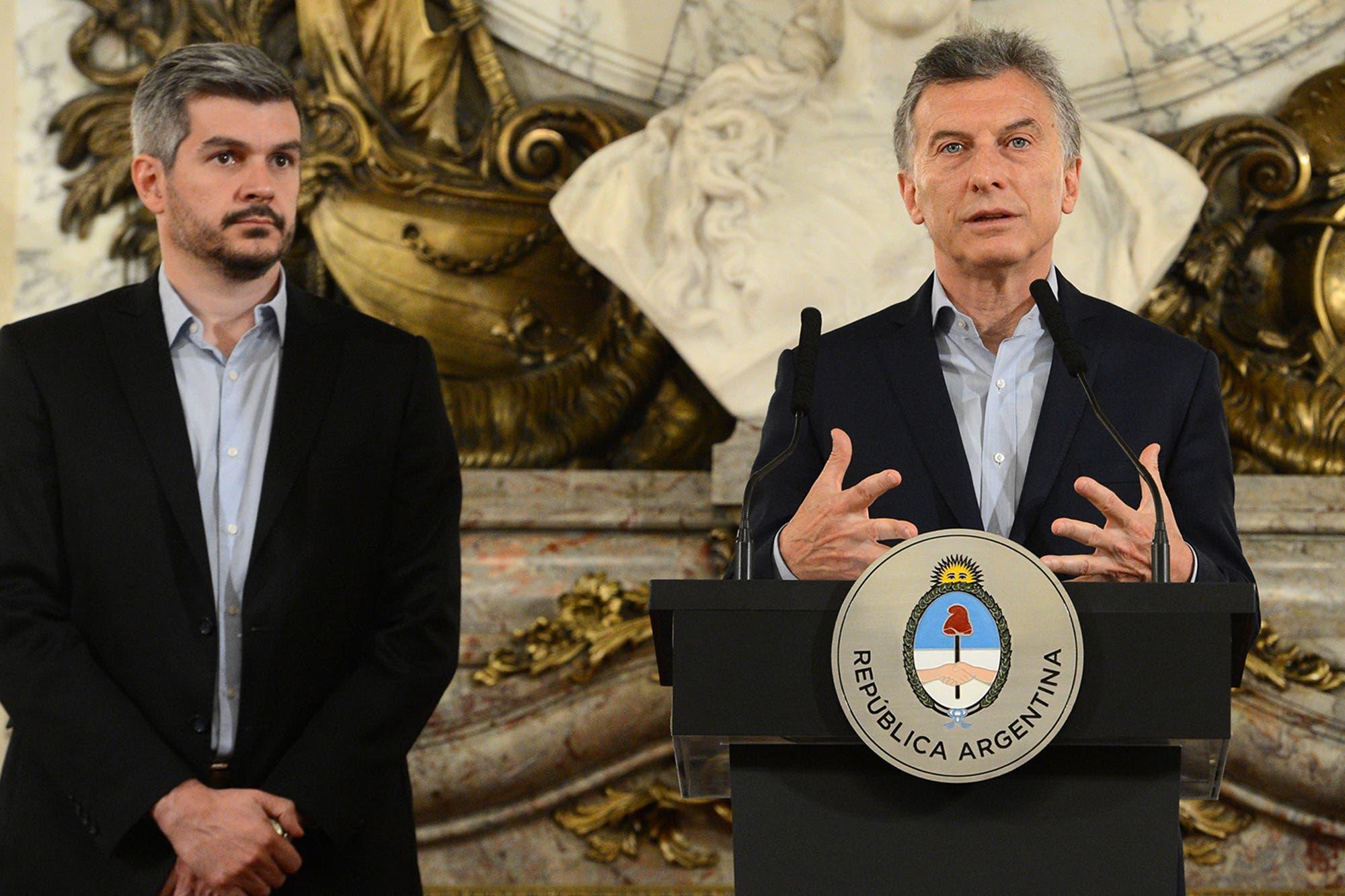 """Marcos Peña anticipó que Mauricio Macri hará """"propuestas concretas"""" orientadas a la clase media"""