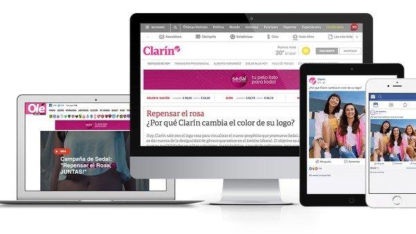 ¿Por qué Clarín cambia el color de su logo?
