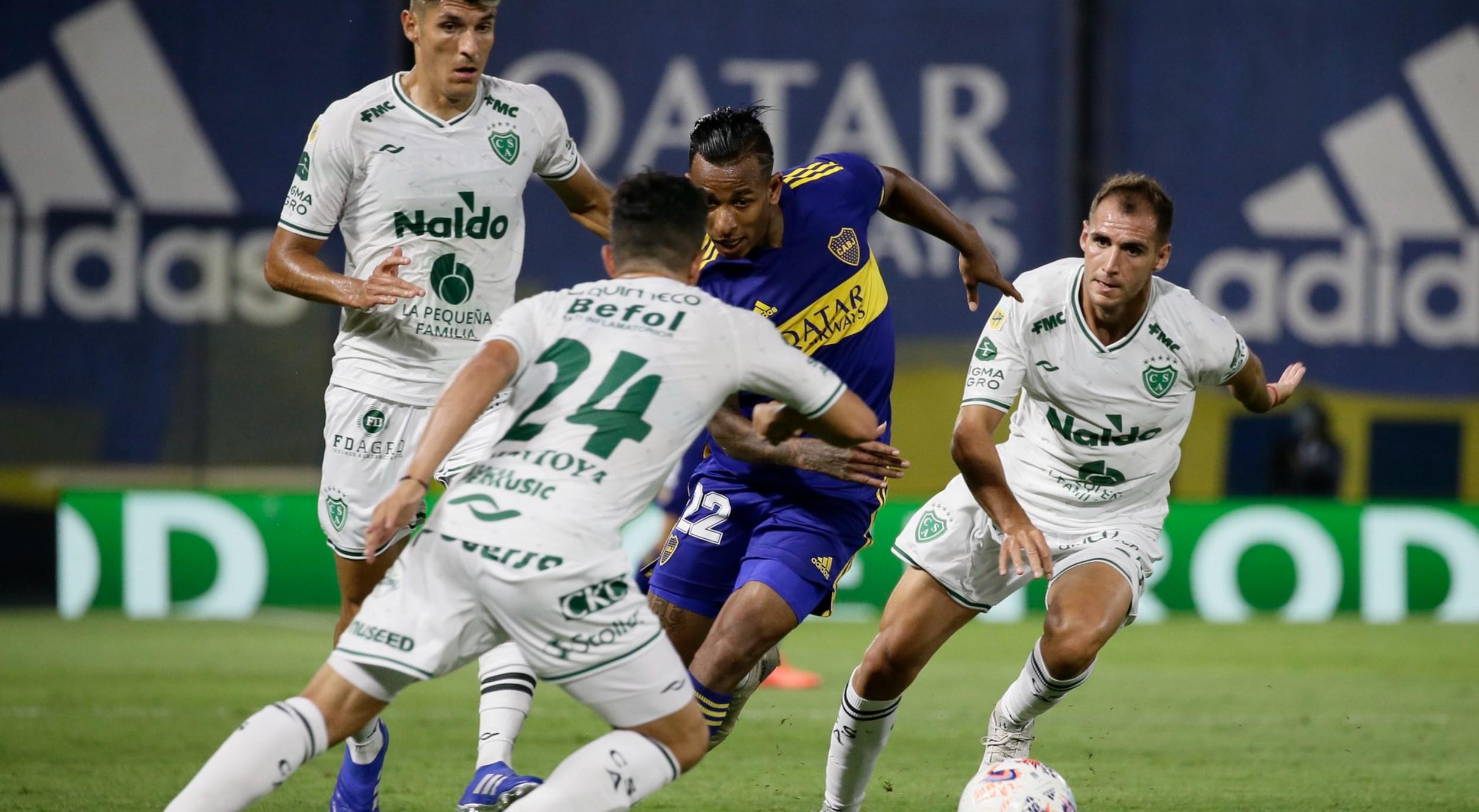 Boca perdía ante Sarmiento, pero finalmente empataron en la Bombonera